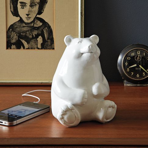 Ceramic Bear Speaker