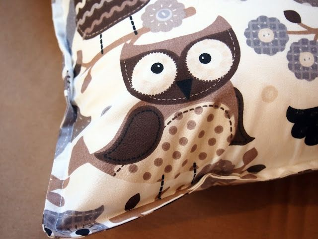 pillow with owl