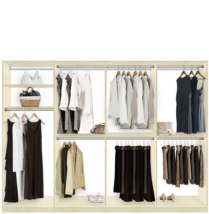 Isa Walk In Closet Systems   Extra Hanging Storage