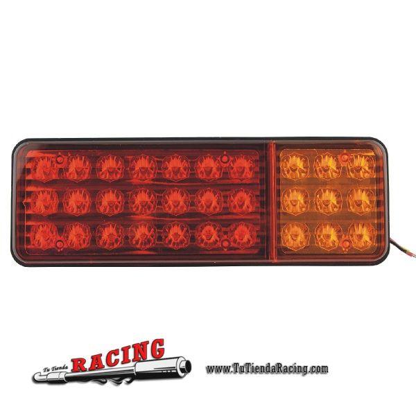 34,85€ - ENVÍO SIEMPRE GRATUITO - 2X Luces Intermitentes Traseras para Camión Coche 30 LEDs con Luces de Freno + Luces Marcha Atrás - TUTIENDARACING