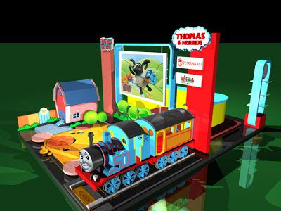 Jatmika: booth / stage Thomas & Friends