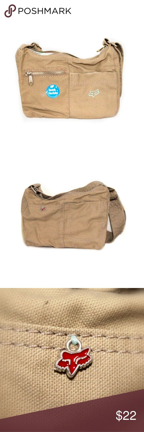 FOX Womens Canvas Purse NWOT Whether you're on or off-road, this canvas utility purse from FOX will  leave you feeling foxy in all your endeavors. Constructed from sturdy canvas and completed with quaint detailing, this purse begs to be taken for a lap or two. FOX RIDERS CO. Bags Mini Bags