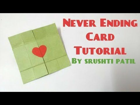 "This tutorial demonstrates how to make a ""Never-Ending"" or ""Endless"" greeting card using a system to number each piece of the card."