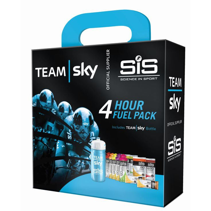 wiggle.co.nz | Science in Sport Team Sky 4 Hour Fuel Pack | Energy & Recovery Gels