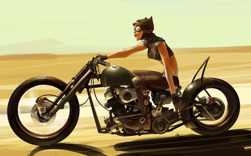 New ride of Selina byOtto Schmidt.More Characters here.