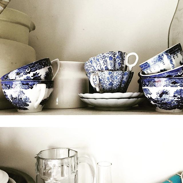We love a good shelfie. Here are some cups and saucers from our personal collection. . . . #arcadiantraders #vintagechina #vintageshop #instashop #vintageinstashop #shelfie #availablesoon #supportlocal