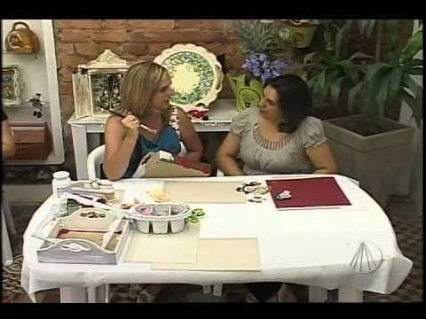 Bandeja com Arte Francesa   Artesanato SABOR DE VIDA - YouTube