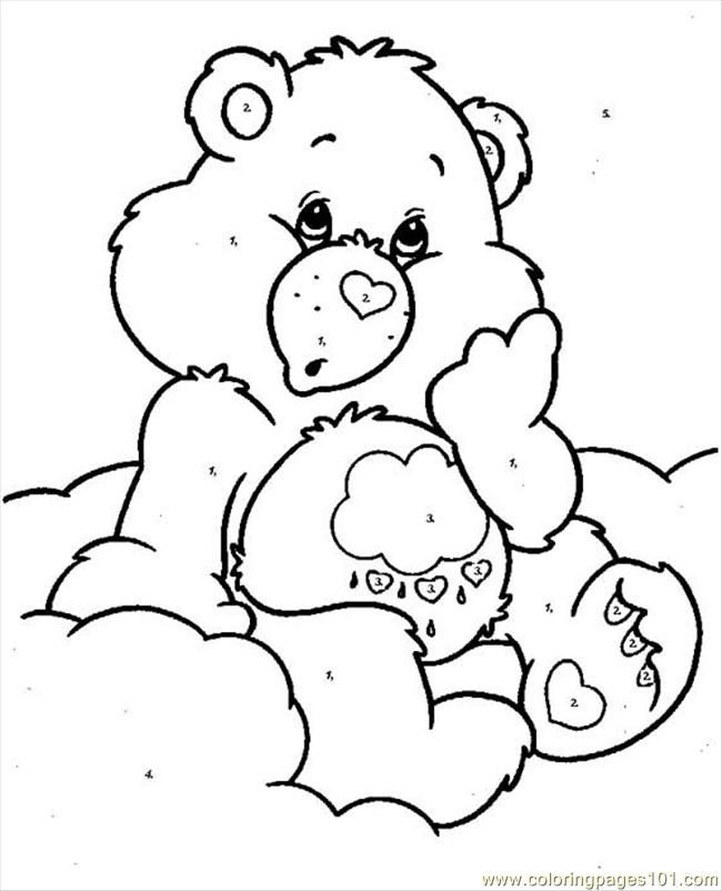 Free Printable Coloring Pages Teddy Bear : 48 best care bears coloring pages images on pinterest