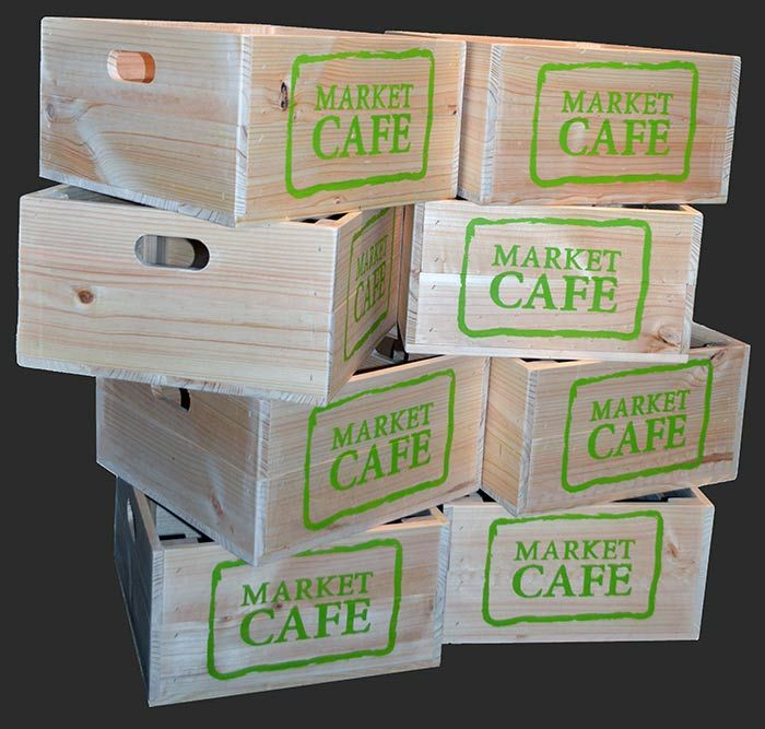Made by Oz-Crates for Market Cafe.