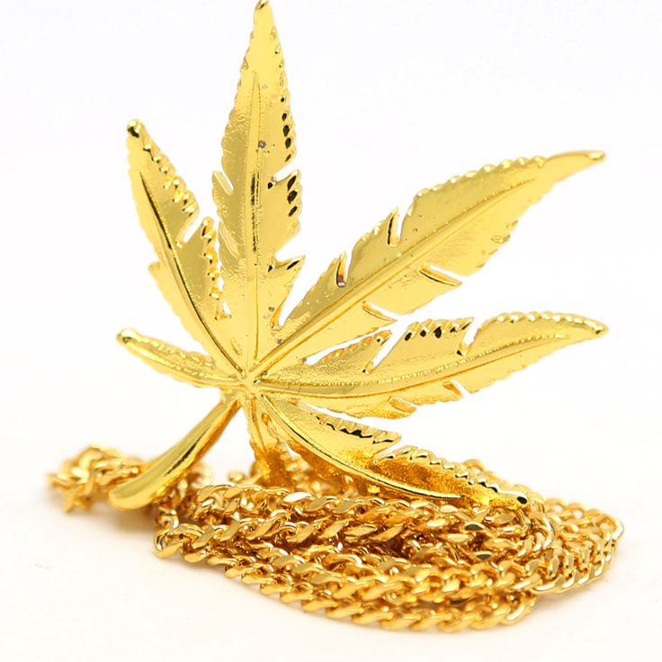 23.6inch Long Cuban Chain Mens Charm Weed Leaf Necklace //Price: $49.98 & FREE Shipping //     #weed