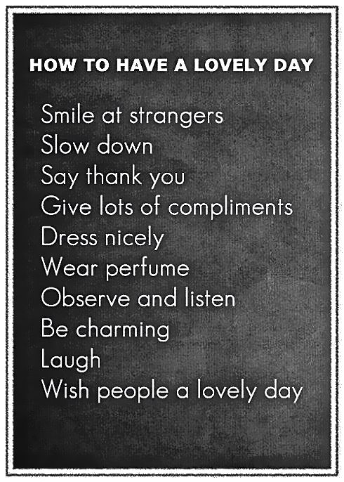 Have a lovely day...