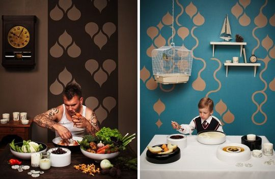 Design For Your Walls: The Tear Off Wallpaper by ZNAK