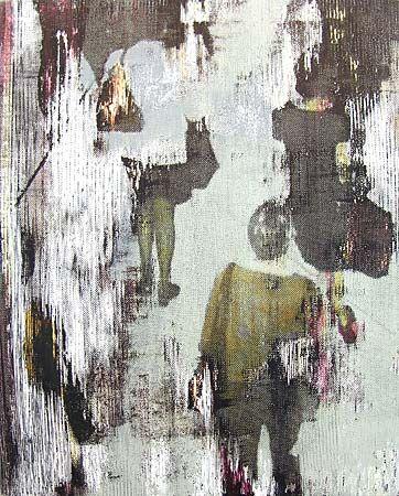 Robert Boynes, 'Circular Quay Station' 2000, acrylic on canvas, 51 x 41cm