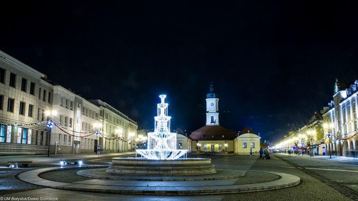 Świąteczny Rynek Kościuszki :) #Fontanna #Święta #Bialystok fot. Dawid Gromadzki