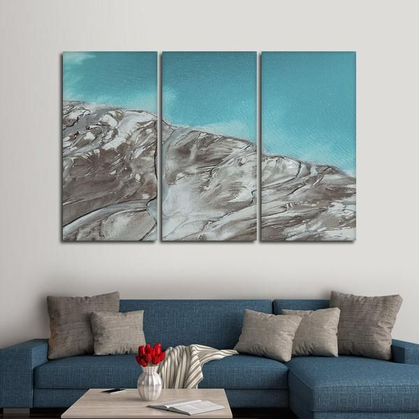 Turquoise River Delta Multi Panel Canvas Wall Art Canvas Wall