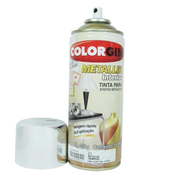 Tinta Spray Colorgin Metallik Cromado