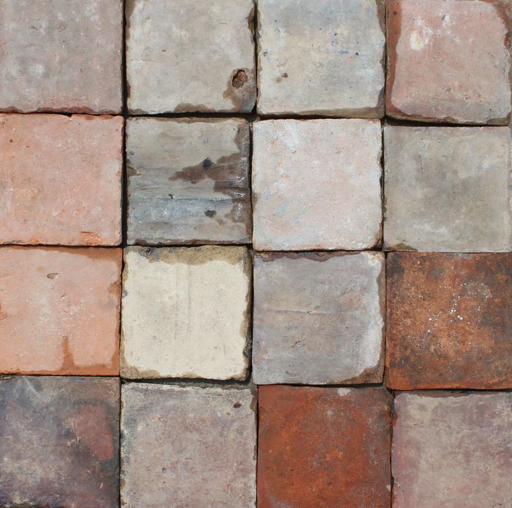 5″ square red French Terracotta flooring tiles