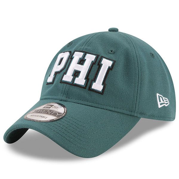 New Era Philadelphia Eagles Midnight Green Home Turf 9TWENTY Adjustable Hat