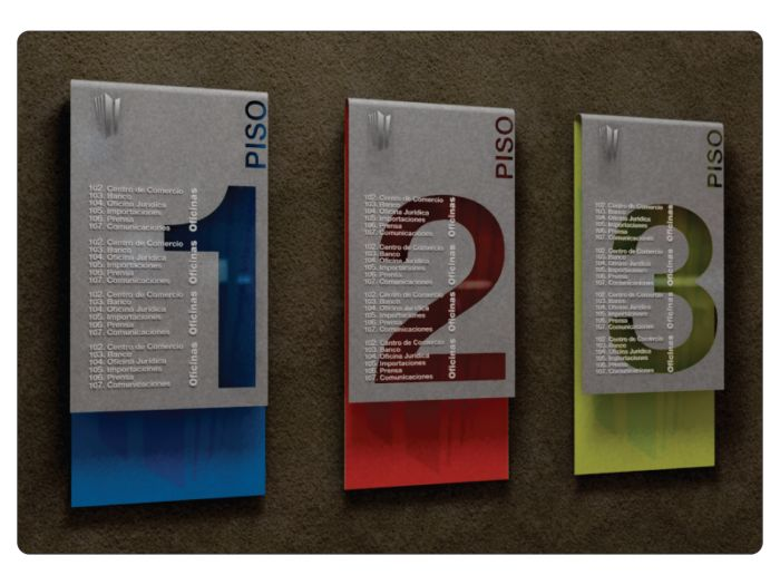 A wonderful mix of color and design for this directory signage.