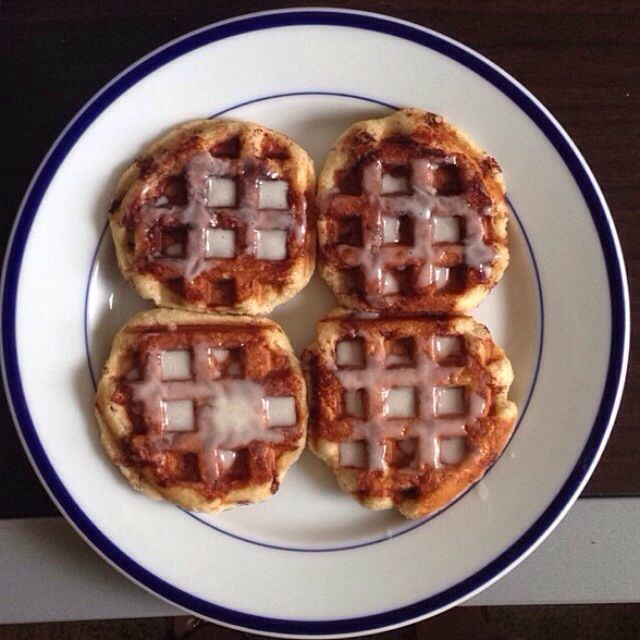 Cinnamon roll waffles | Food & Drink | Pinterest