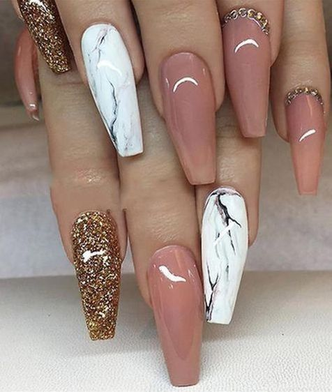 Pin By Bekah Call On Nails Nail Designs Coffin Nails Designs Coffin Nails Long
