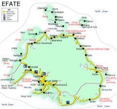 Efate island Map