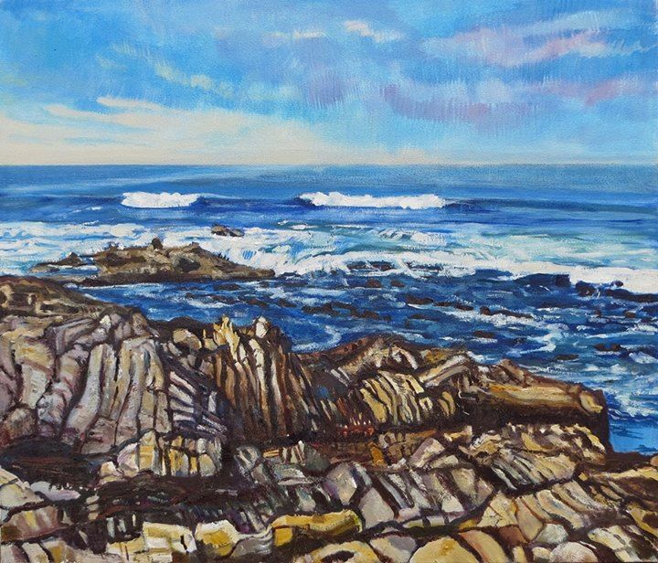'Near Kleinbaai' | Signed with the Artist's Monogram | Oil on Canvas | 60 x 70cm