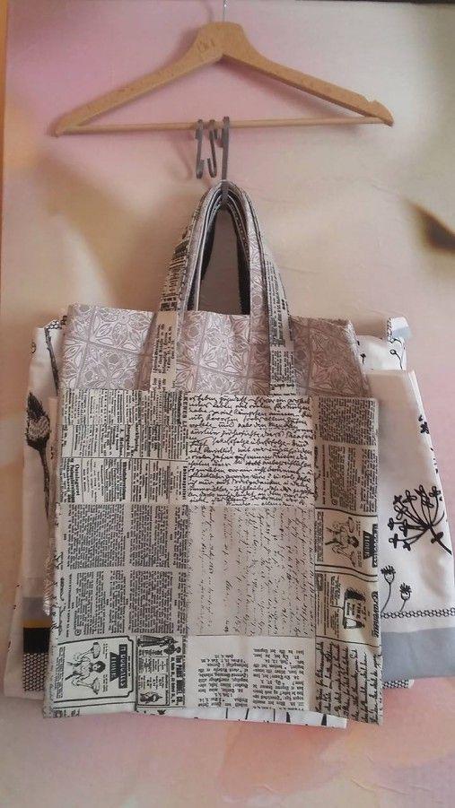 ..DADA / nákupná taška - noviny - veľkosť M