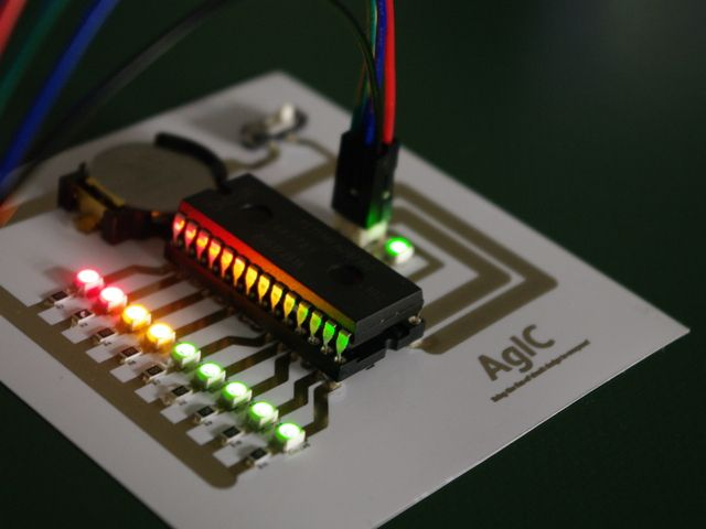 AgIC Print - Printing circuit boards with home printers by AgIC Inc. — Kickstarter.  AgIC transforms a home printer into a circuit board manufacturing equipment. The fastest and cheapest way to print circuits.