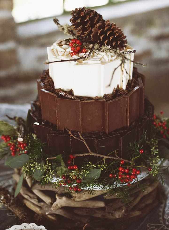 Forest Themed Winter Wedding Cake : If you are looking for winter wedding ideas, we at The Bridal Box have short-listed the prettiest, and the most delectable of winter wedding cakes that will simply brighten your winter celebration.