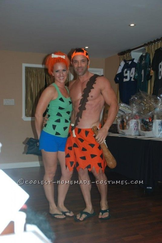 Simple and Fun Pebbles and Bamm-Bamm Couple Halloween Costume ...This website is the Pinterest of costumes