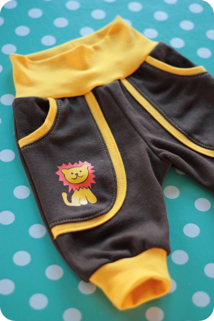 baby broek met geribde boord en zakken - gratis patroon 50/56