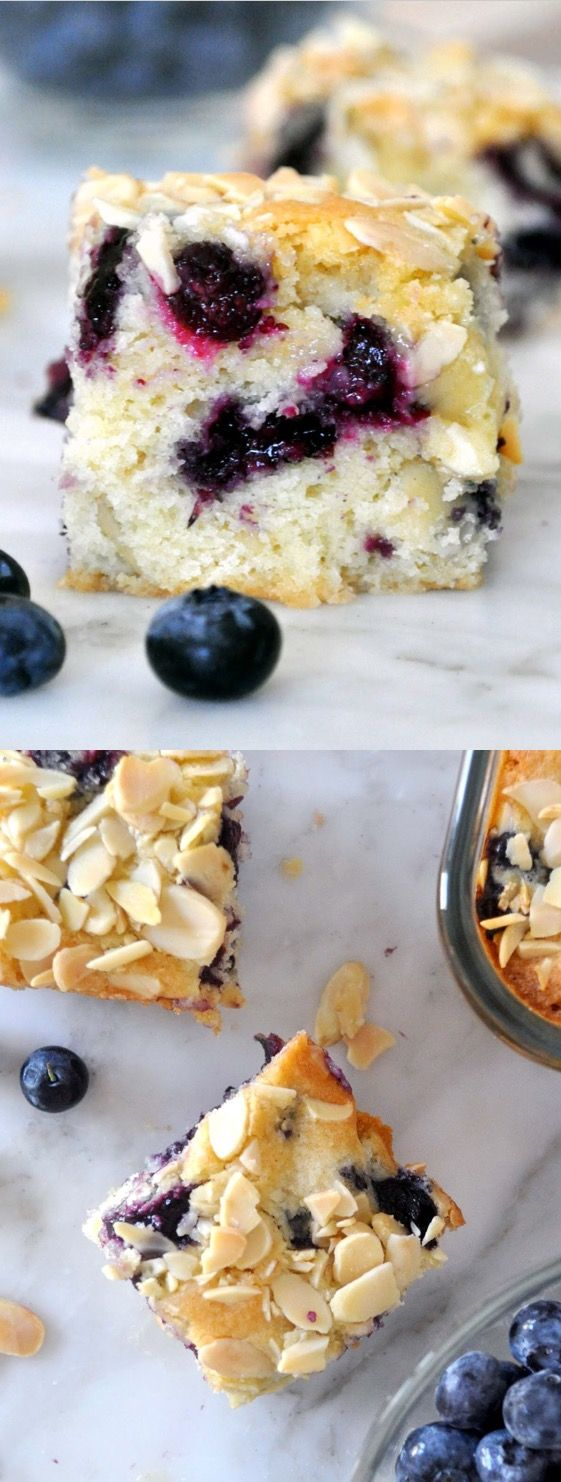 This coffee cake is a sure way of perking up your morning. Soft and moist. With a nutty almond flavor and bursting with sweet, fresh blueberries  Video recipe (link in my profile): https://youtu.be/H4AVAaqmgOA