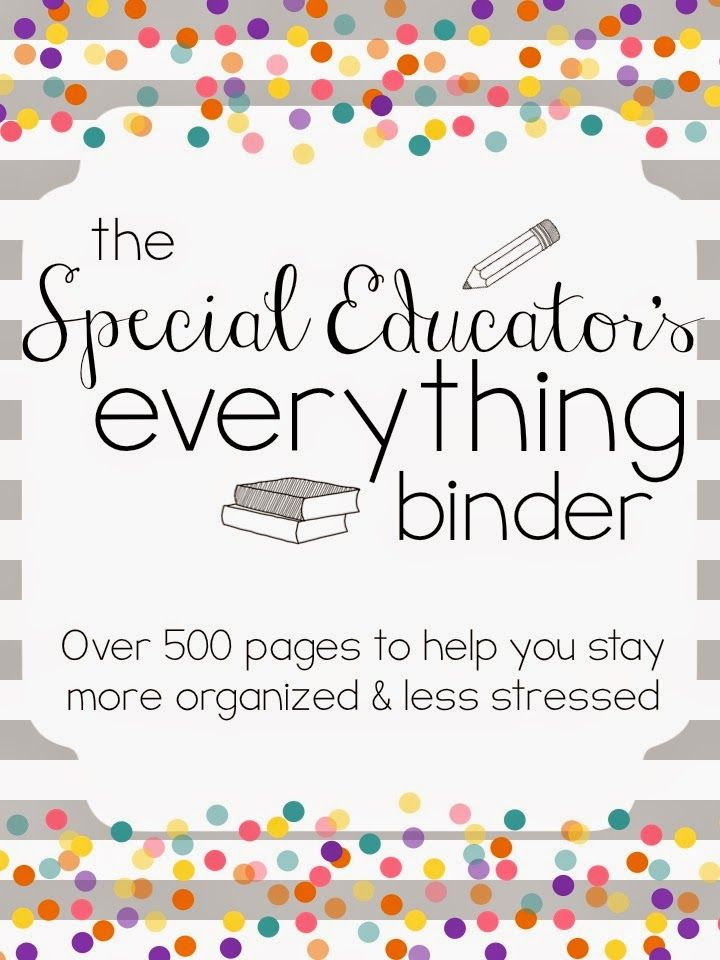Special Educator's Everything Binder {Set Up Video!}
