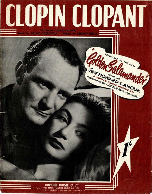 "ADVENTURE MOVIE ""GOLDEN SALAMANDER"" - TREVOR HOWARD & ANOUK - 1947 - Sheet Music"