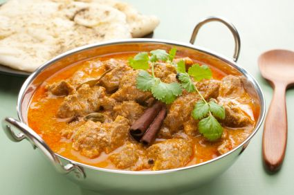 Lamb and coconut curry