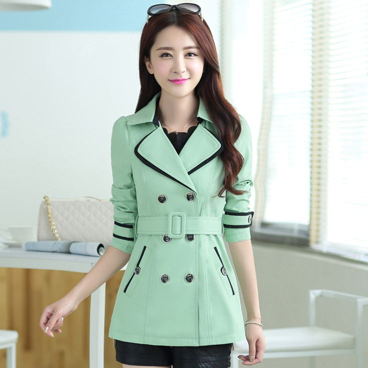 Find More Trench Information about 2015 Hot New Autumn Trench Coat for Women Turn down Collar Solid Plus Size Double Breasted High Waist Coats ,High Quality trench coat brand,China trench grate Suppliers, Cheap trench coat mens from Chinese Characteristic Fashion Shop on Aliexpress.com