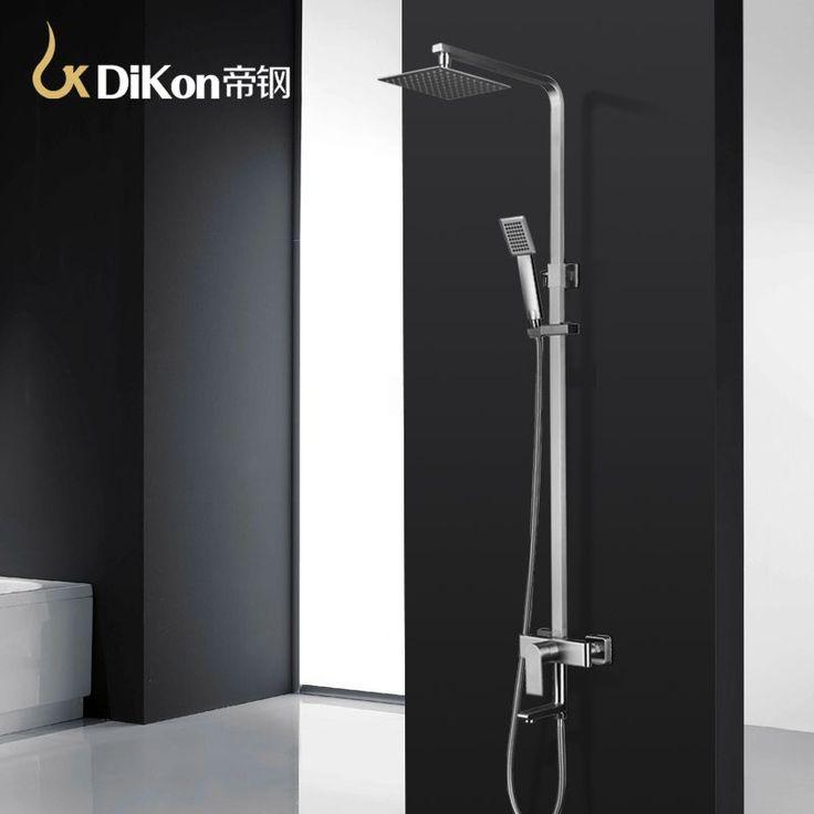 DiKon Luxury Bathroom Shower Faucet 304 Stainless Steel Mixer Tap Head Set Faucets Rotatable Lifting Crane Rain Shower Panel #Affiliate