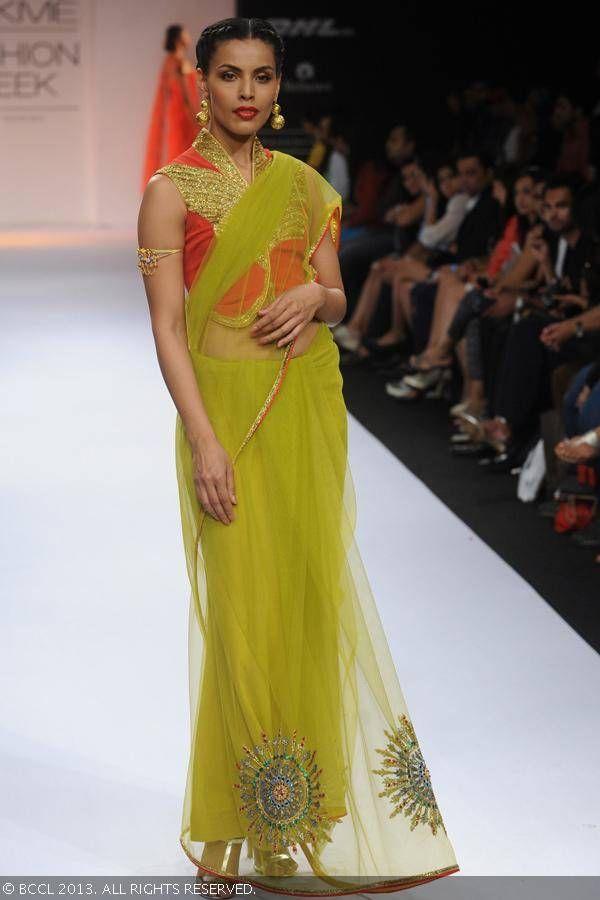 Sari by Shilpa Reddy at Lakme Fashion Week (LFW) Winter/Festive 2013
