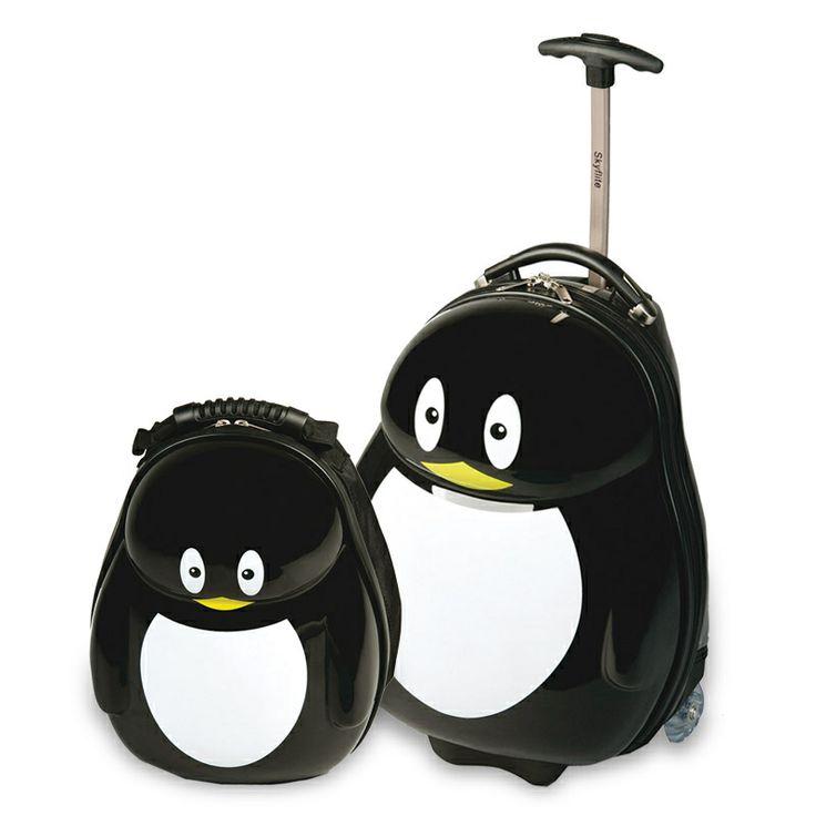 Skyflite Kidz Penguin Trolley Case & Backpack. Buy today at http://www.luggage-uk.co.uk/skyflite-kidz-penguin-trolley-case-backpack/p550