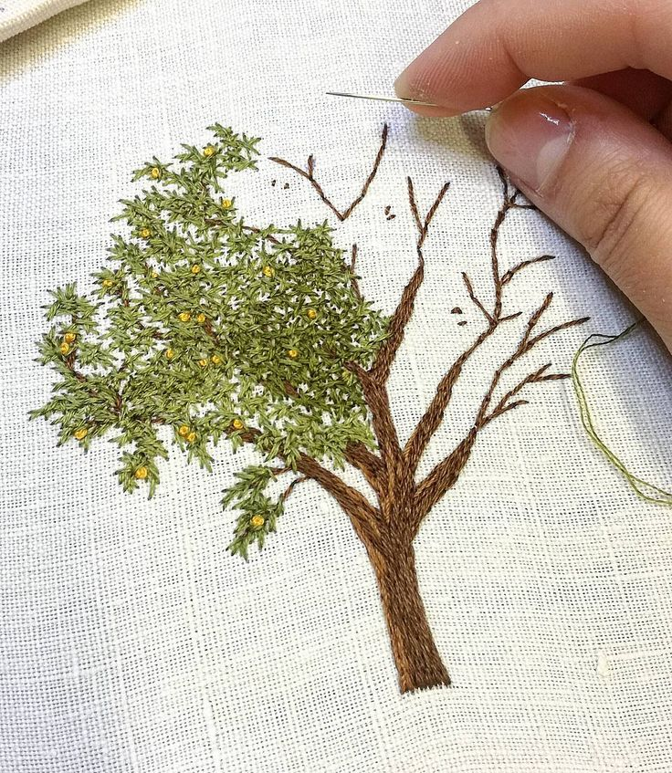"""4,523 Me gusta, 54 comentarios - Professional Embroiderer (@delphil__) en Instagram: """"#abricotier #apricottree . . . . . . . . . . . #fruit #fruittree #arbre #greenlife #tree #nature…"""""""