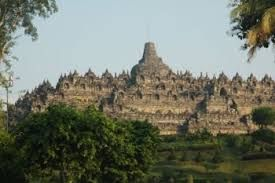 Borobudur temple is one of the most impressive historical tourist destinations, Borobudur temple there magelang central Java Indonesia
