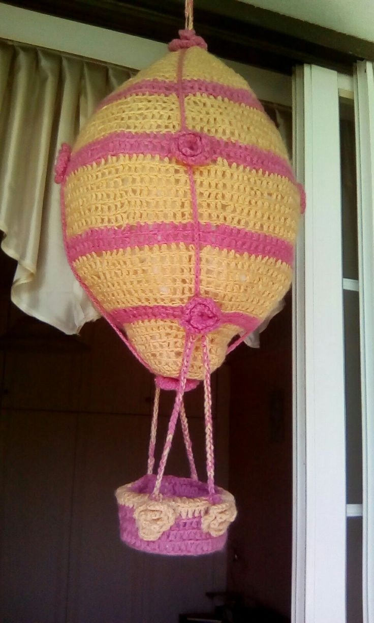 Πλεκτό αερόστατο με το βελονάκι δημιουργία μου
