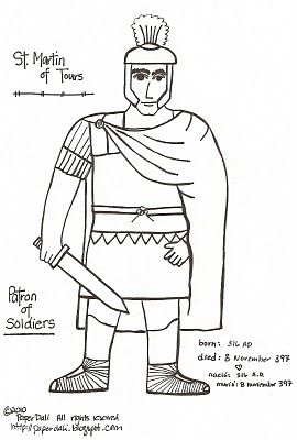 St Martin & the Beggar paper dolls to download, print and color. (free)