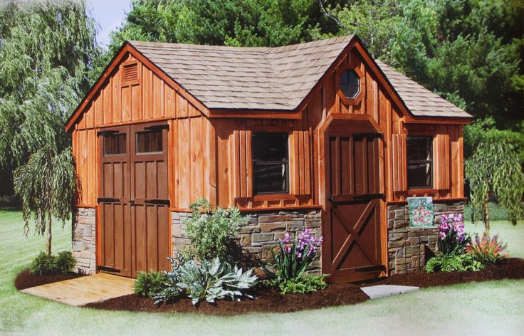 17 best images about sheds on pinterest craftsman for Board and batten shed plans
