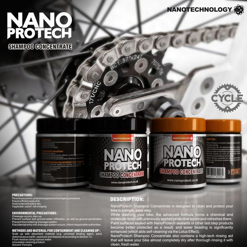 product label for NanoProtech