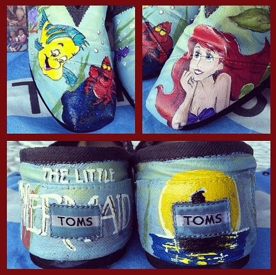 $30.00 for custom painted TOMS, send her your TOMS she sends them