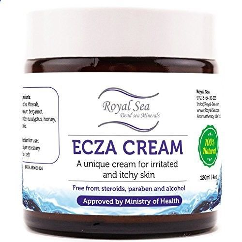 Royal Dead Sea Natural Eczema Treatment Anti Itch Cream [4oz] Atopic Dermatitis, Keratosis Pilaris, Skin Fungus Light Therapy Relief for Face, Sound Eyes, Hand and Dry Skin. Suitable for Baby Kids and Adults