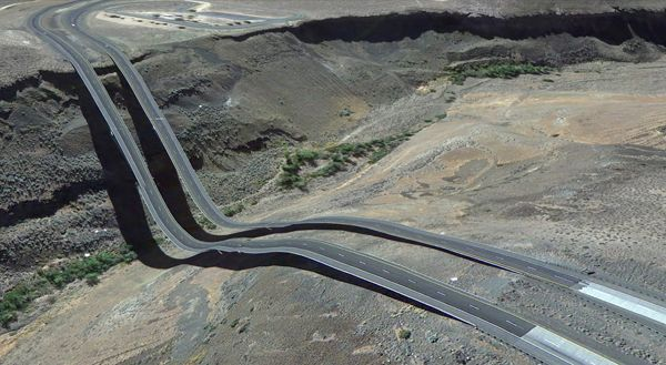 Bizarre Google Earth Glitch Images