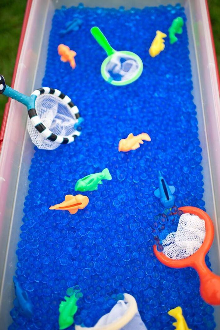 Water Bead Pit from a Gone Fishing Birthday Party via Kara's Party Ideas | KarasPartyIdeas.com (37)